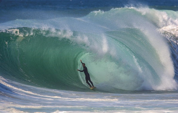 Picture the ocean, sport, wave, surfing, tunnel, surfer