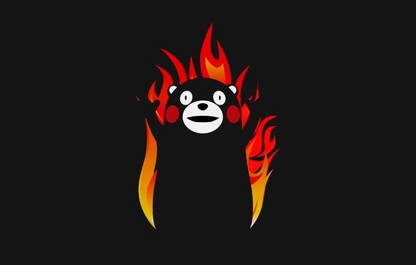 Picture Minimalism, Bear, Black Style, Minimalism, Kumamoto Prefecture, Mascot, Why? For The Glory Of Satan, Of …
