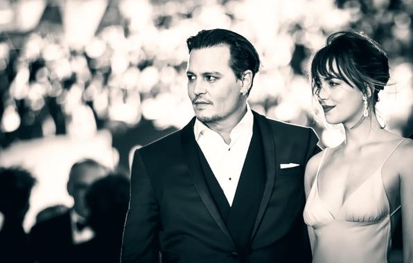 Picture Johnny Depp, premiere, Dakota Johnson, Black Mass, Black mass