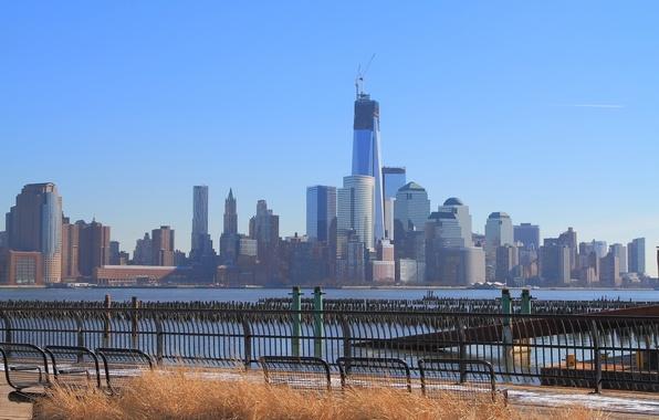 Picture Manhattan, World Trade Center, Hudson River