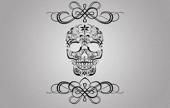 Picture style, background, patterns, skull