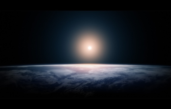 Picture space, light, space, lights, earth, planet