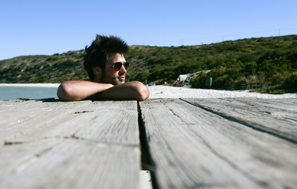 Picture beach, summer, stay, hair, Board, glasses, male, guy, brunette, sun, hair