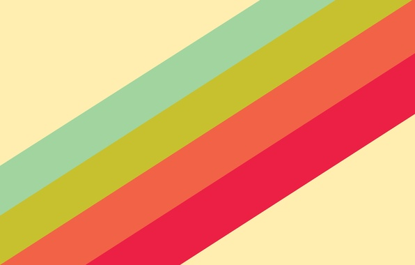 Picture strips, orange, red, green, blue, rainbow