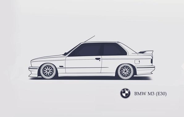 Picture BMW, E30, Minimalistic, SrCky Design