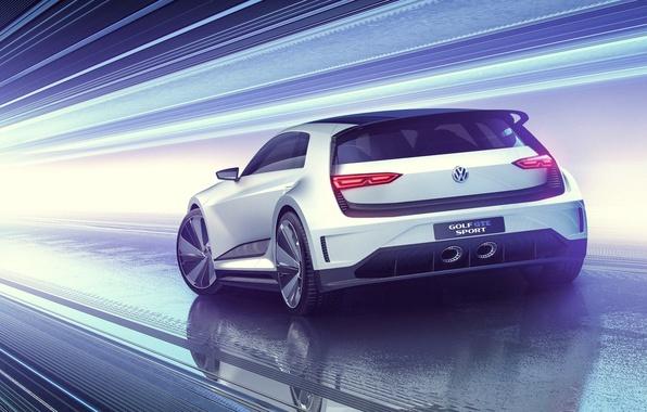 Picture Concept, Volkswagen, Golf, Golf, Volkswagen, Sport, GTE, 2015