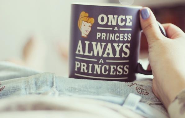 Picture the inscription, mug, Cup, Princess