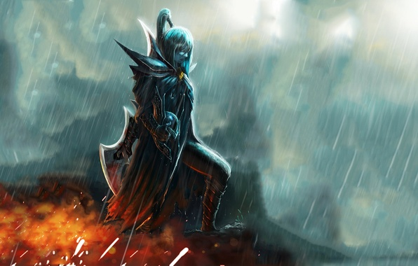Picture woman, the game, art, dota 2, phantom assassin