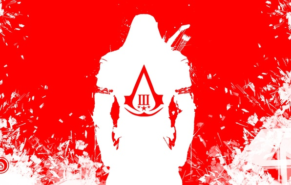 Picture white, red, fragments, coat of arms, killer, ubisoft, assassins creed 3, Connor