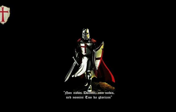 Photo Wallpaper Red Sword Black Cross Shield Knight Crusader