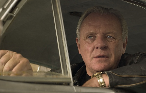Picture look, face, background, the film, male, actor, in the car, Anthony Hopkins, The World's Fastest …