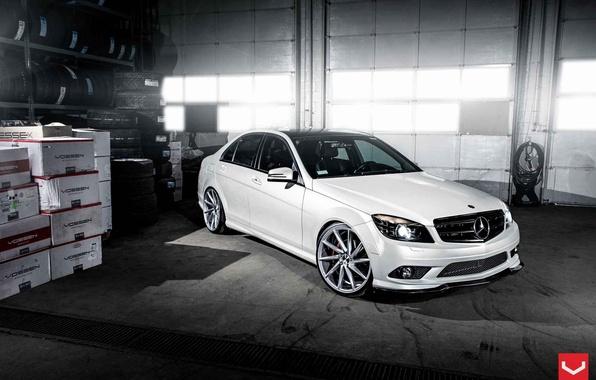 Picture White, Tuning, Mercedes, Mercedes, C Class, Vossen, VVSCVT