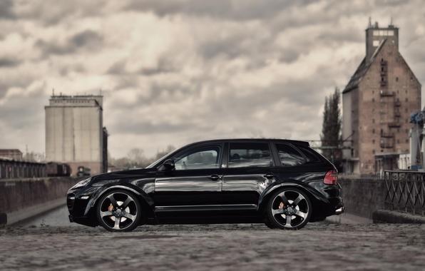 Picture jeep, cayenne, porsche, Porsche, Cayenne, stance