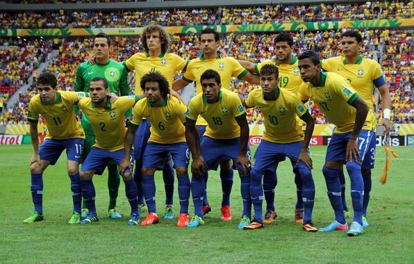 Picture Hulk, Oscar, football, Brazil, David Luiz, Marcelo, Neymar, Daniel Alves, Confederation Cup 2013, Paulinho, Julio …