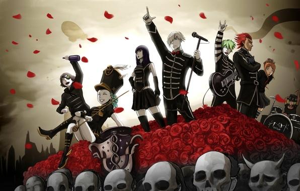 Photo wallpaper death parade, characters, concert, art