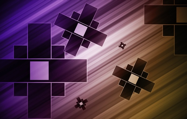 Picture strip, background, abstraction, squares, figure