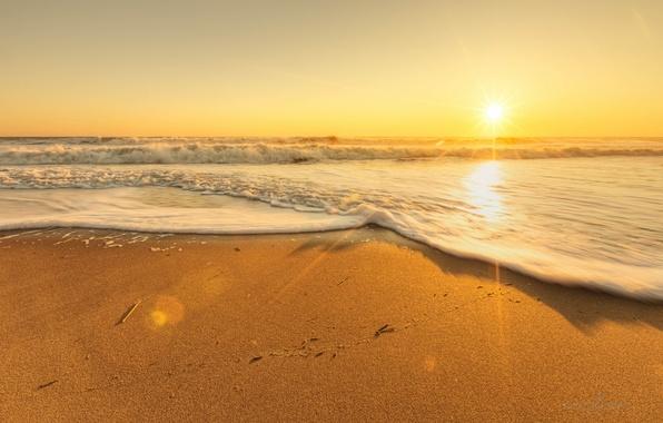 sunrise beach sand wallpaper - photo #5