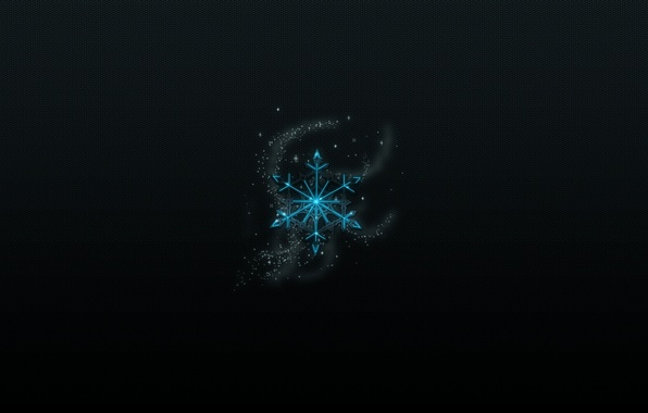 Picture holiday, new year, black background, new year, snowflake, holiday, snowflake