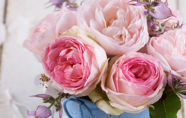 Picture flowers, roses, bouquet, pink, flowers, roses