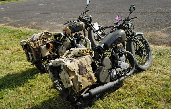 Picture motorcycles, military, BSA, WM20, WDM20