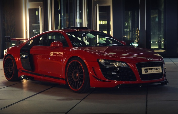 Picture car, machine, Audi, Audi, red, tuning, Prior-Design, GT650, prior-design