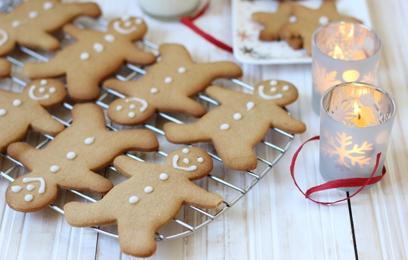 Picture food, candles, New Year, cookies, Christmas, christmas, Christmas, food, cakes, holidays, New Year, cookies, candles, …