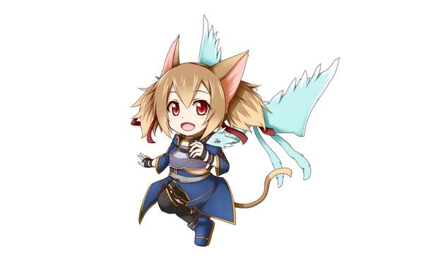 Photo Wallpaper Ice Game Nothing Anime Chibi Fairy Cat