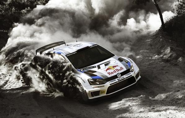Picture Auto, Dust, White, Forest, Volkswagen, Speed, Skid, Day, WRC, Rally, Polo, Jari-Matti Latvala, Miikka Anttila, …
