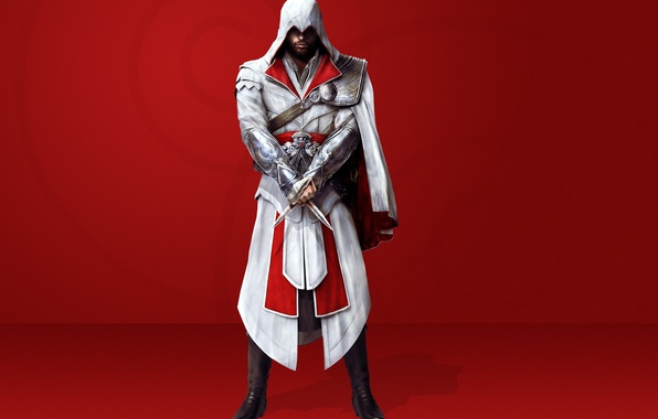 Picture knives, cloak, brotherhood, creed, assassins