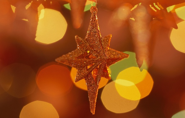 Picture holiday, star, new year, star, new year, orange background, holiday