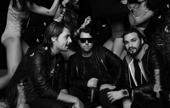 Picture Girls, Black and white, Sebastian Ingrosso, Steve Angello, Axwell, Swedish House Mafia