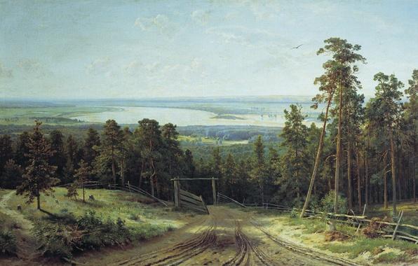 Picture picture, Shishkin, Kama near Elabuga