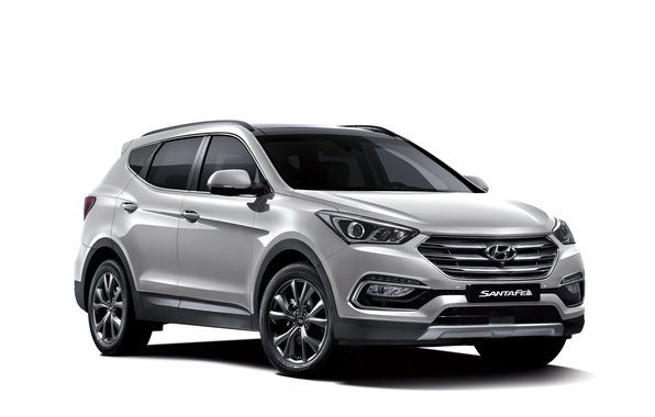 Photo wallpaper Santa Fe, white background, Santa Fe, Hyundai, Hyundai