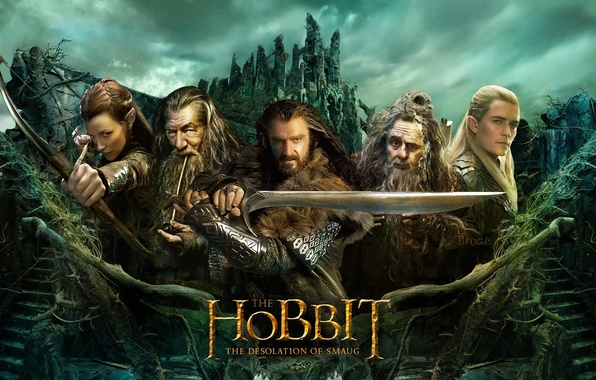 Picture Fantasy, Evangeline Lilly, Orlando Bloom, Legolas, Ian McKellen, The Hobbit, Richard Armitage, Adventure, The Desolation ...