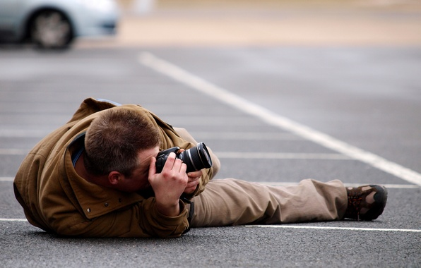 Picture background, blur, the camera, photographer, male, view