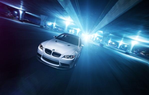 Picture white, glare, BMW, BMW, before, white, front, E92