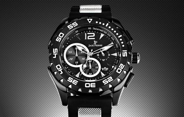 Picture white, black, watch, jack pierre