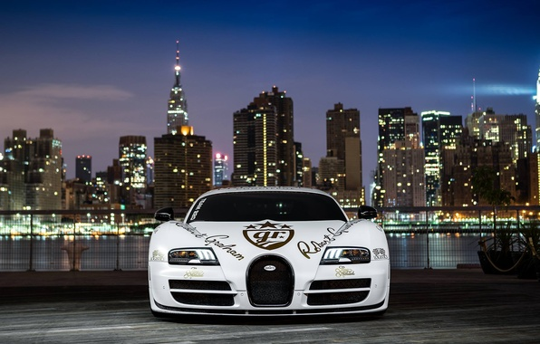 Picture supercar, Bugatti Veyron, Supersport, hypercar, Pur Blanc, Andrew Link