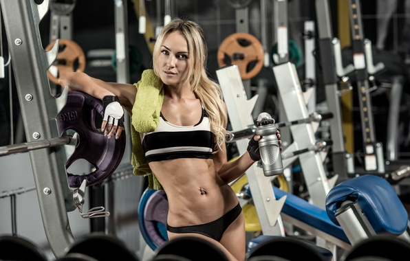 Picture model, pose, workout, fitness, gym, physical activity, hydration