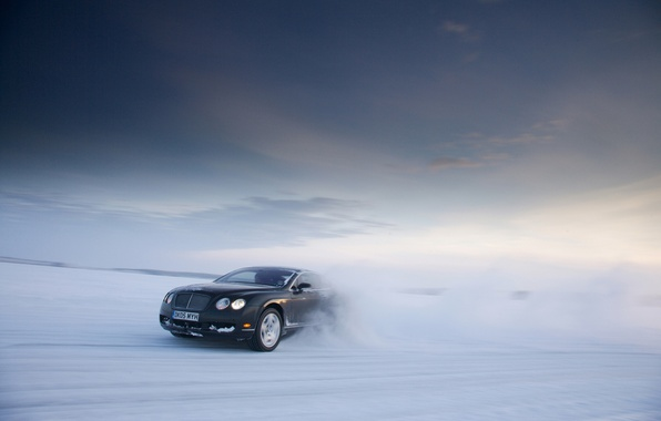 Picture winter, background, Bentley, Continental GT