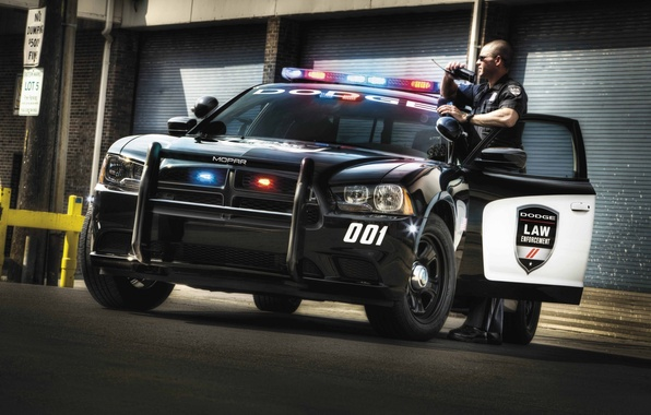 Picture police, Dodge, Dodge, Charger, the charger, Law Enforcement, Pursuit, flashing beacons, police, radio
