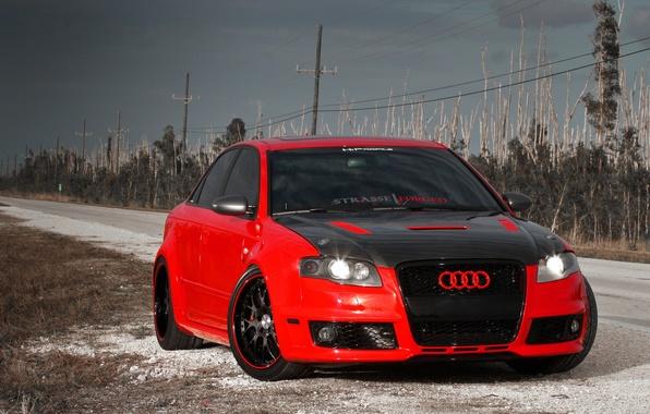 Picture Audi, Auto, Road, Audi, Tuning, Machine, Carbon, Tuning, RS4