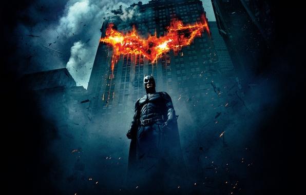 Picture 2008, Dark, City, Fire, Movies, 2012, Hero, The Dark Knight, Batman, Legendary Pictures, The, Wallpaper, …