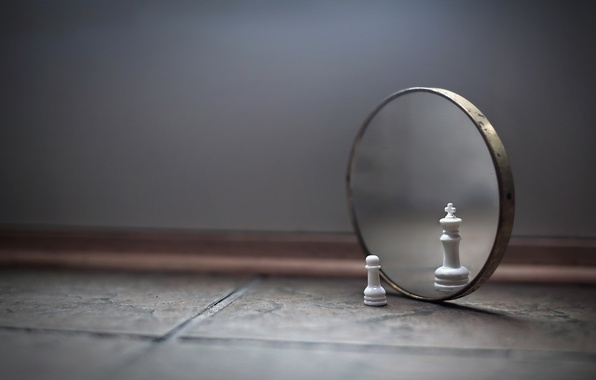 Picture chess, king, mirror, pawn