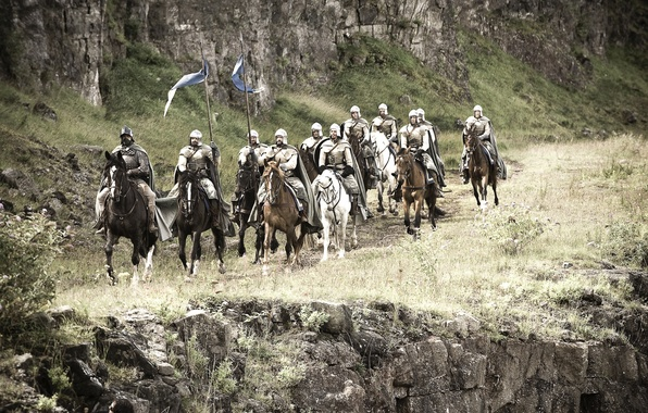 Picture the series, riders, Saga, cavalry, game of thrones, a song of ice and fire, George …