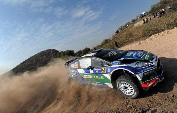 Picture dust, Mexico, ford, rally, rally, wrc, fiesta, JM Latvala, mexico, Latvala