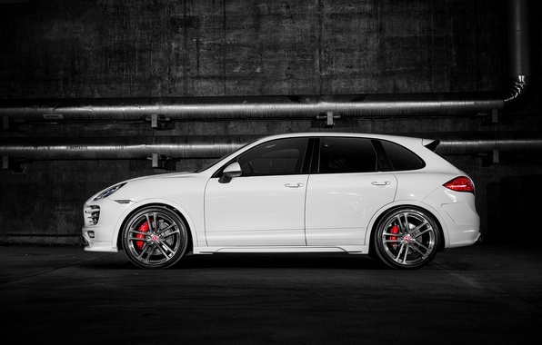 Picture Porsche, turbo, white, Cayenne, 958, V-CT Edition