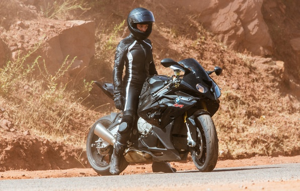 Picture road, stones, black, frame, costume, motorcycle, helmet, bike, Mission: Impossible - Rogue Nation, Mission impossible: …