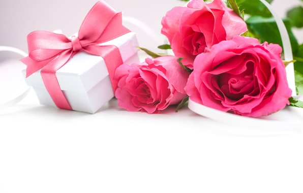 Picture flowers, roses, bouquet, pink roses