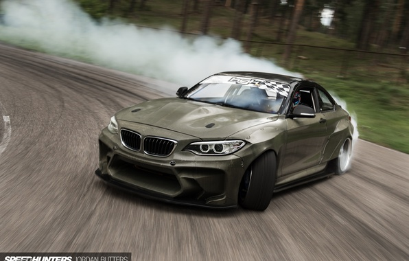 Picture car, smoke, track, BMW, skid, Drift, speedhunters, Latvia